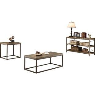 Helene 2 Piece Coffee Table Set Mercury Row