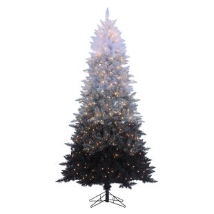 Black White Spruce Trees Artificial Christmas Tree With Clear Lights