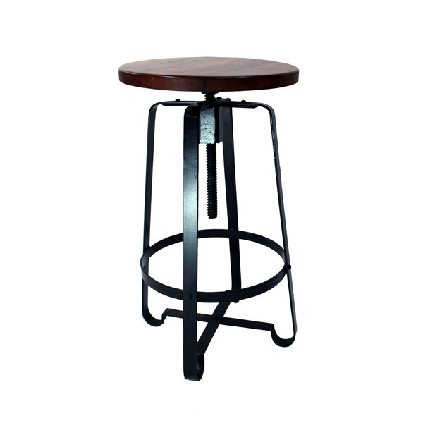 Tyrik Adjustable Height Swivel Bar Stool by 17 Stories