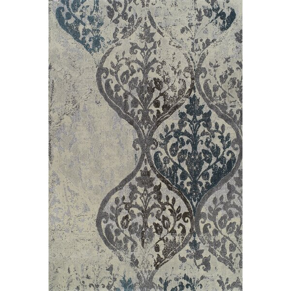 Wilton White Plant Area Rug by Bungalow Rose
