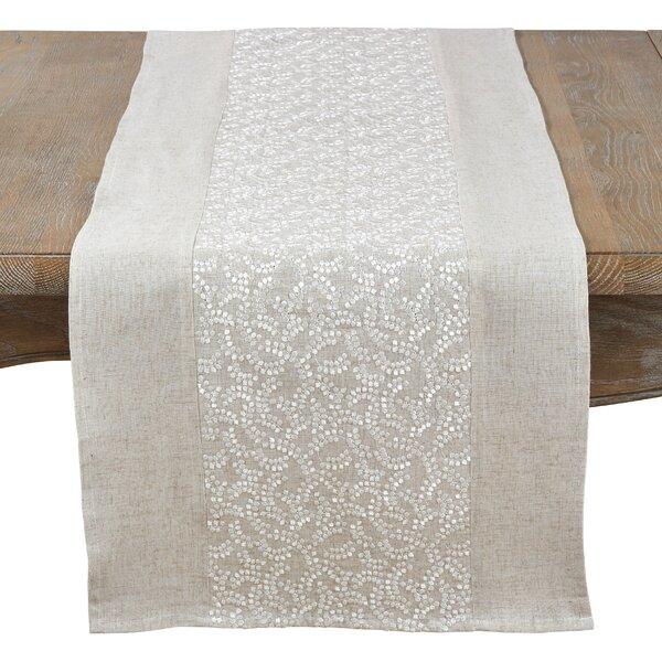 Victor Harbor Willow Tree Embroidered Table Runner by Ophelia & Co.