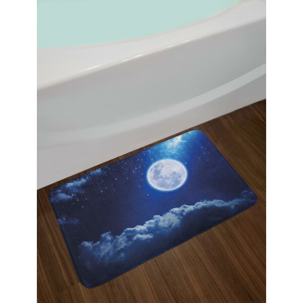 Full Moon Moon Bath Rug by East Urban Home