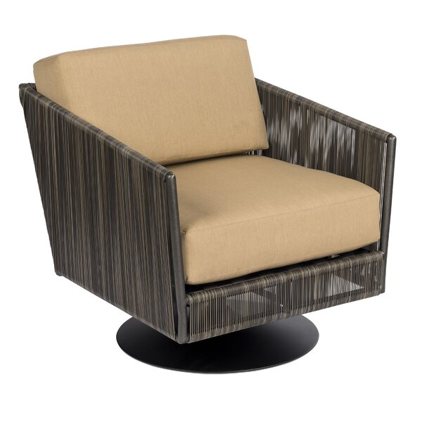Sonata Swivel Patio Chair with Cushions by Woodard