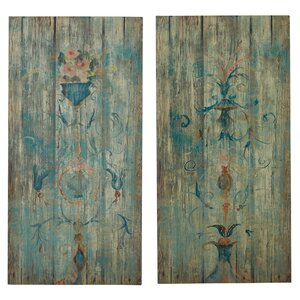 Graphic Art Print on Wood in Brown (Set of 2) by Lark Manor