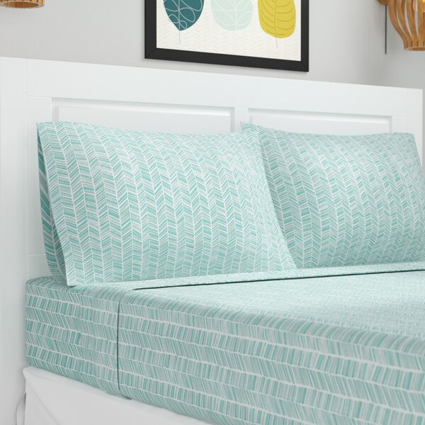 Ervin Chevron Printed Sheet Set by Zipcode Design