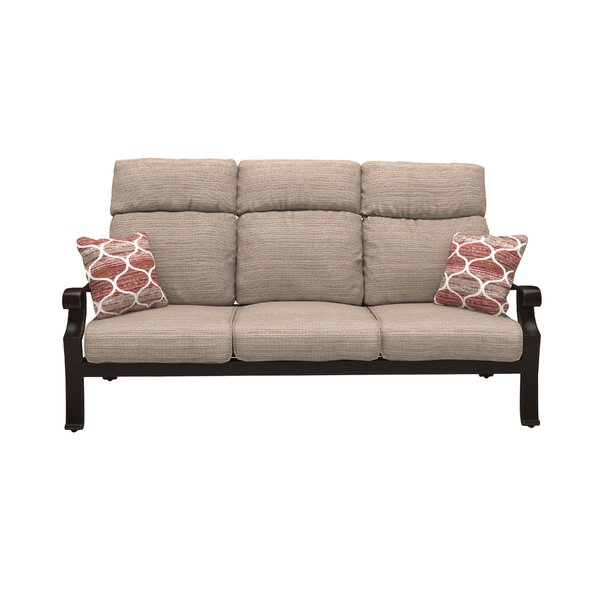 Hamer Patio Sofa with Cushions by Alcott Hill
