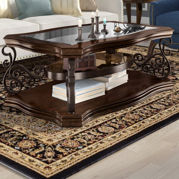 Bearup Floor Shelf Coffee Table With Storage By Astoria Grand
