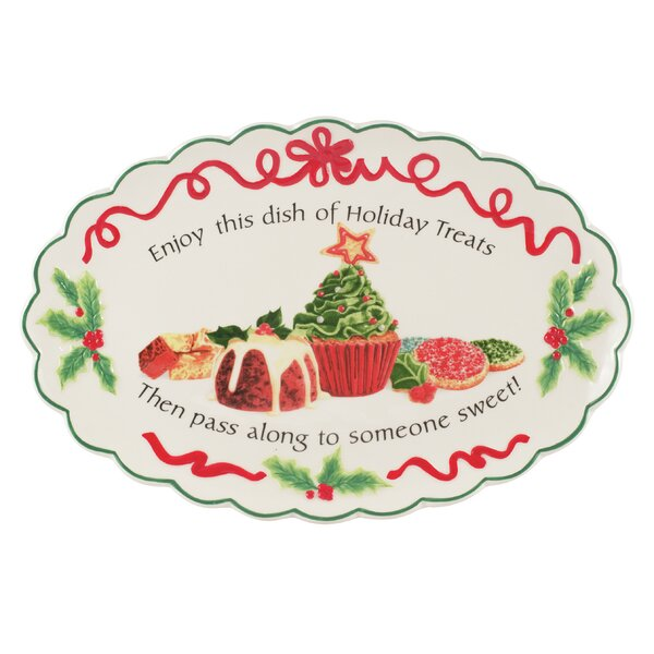 Holiday Treats Cookie Platter by Fitz and Floyd