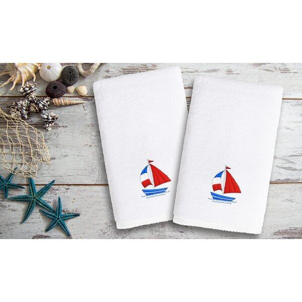 Libourne Kids Luxury Boat Turkish Cotton Hand Towel (Set of 2) by Harriet Bee