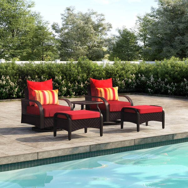 Cerralvo 5 Piece Rattan Seating Group with Cushions by Sol 72 Outdoor
