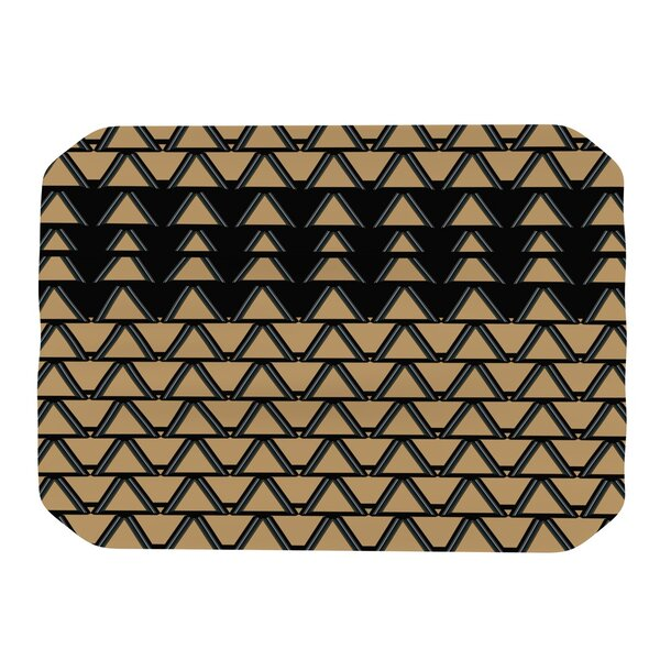 Deco Angles Gold Black Placemat by KESS InHouse