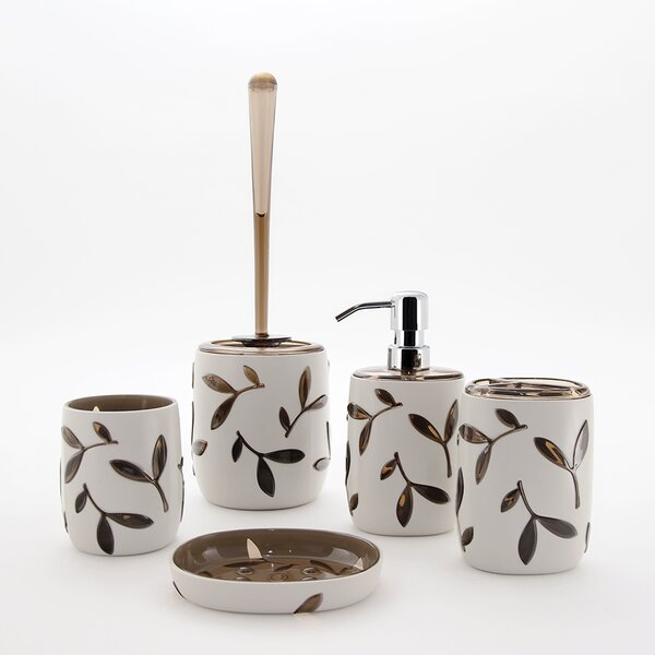 Olive 5-Piece Bathroom Accessory Set by Immanuel