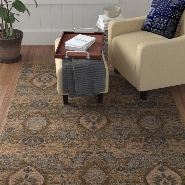 Tackett Power Loom Wool Brown/Beige Rug
