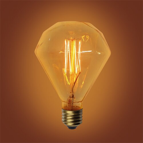 60W Amber E26 Incandescent Vintage Filament Light Bulb by Urbanest