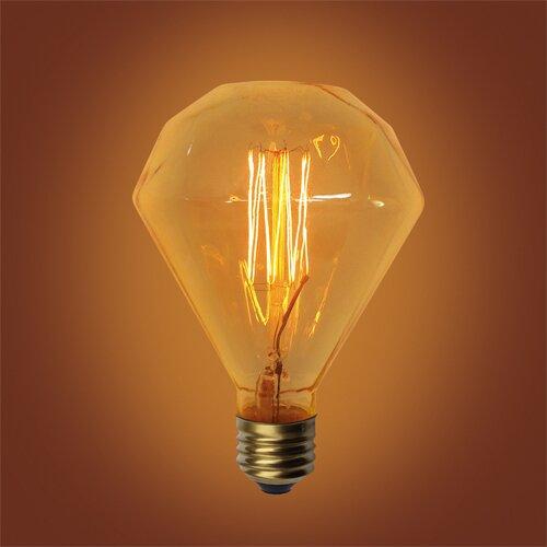 60W Amber E26 Incandescent Vintage Filament Light Bulb by Urbanest