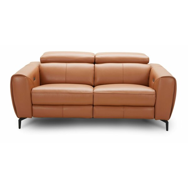 Nakale Leather Reclining Sofa by Orren Ellis