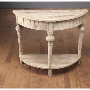 Bloomsbury Market North Andover Half Round Console Table with Shelf Image