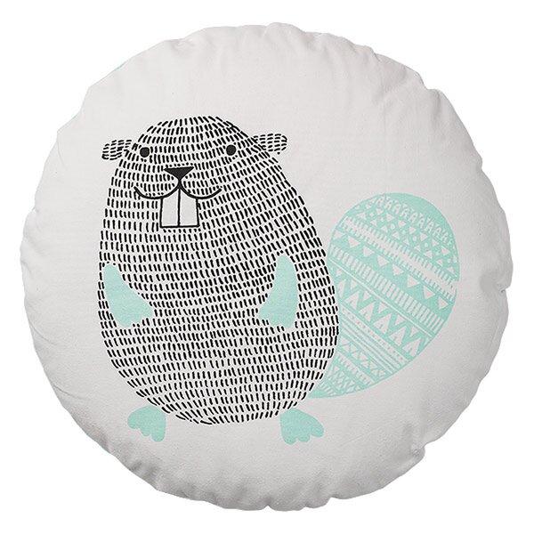 Jordon Beaver Cotton Throw Pillow by Viv + Rae