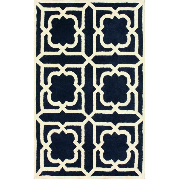 Moderna Hand-Tufted Navy Area Rug by nuLOOM