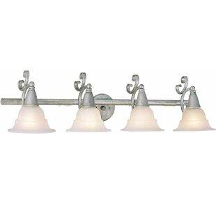 Read Reviews Toledo 4-Light Vanity Light By Volume Lighting