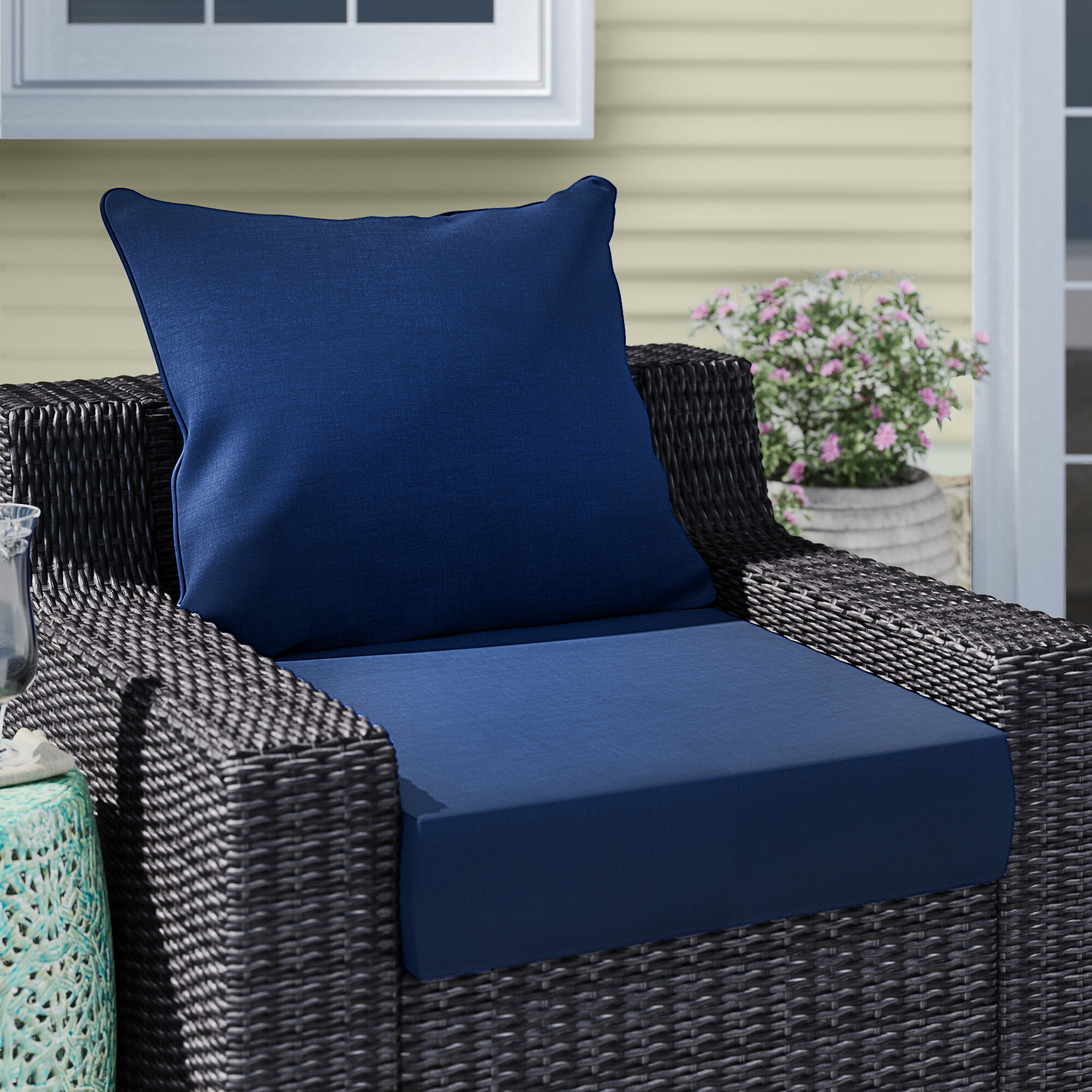 Super Longshore Tides Texture Outdoor Lounge Chair Cushion Cjindustries Chair Design For Home Cjindustriesco