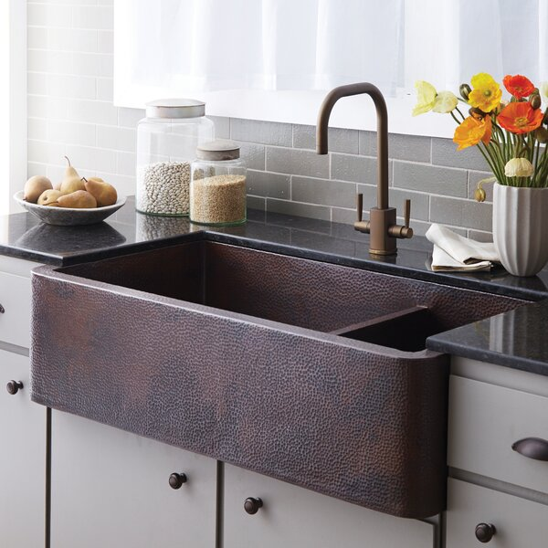 40 L x 22 W Double Basin Farmhouse Kitchen Sink