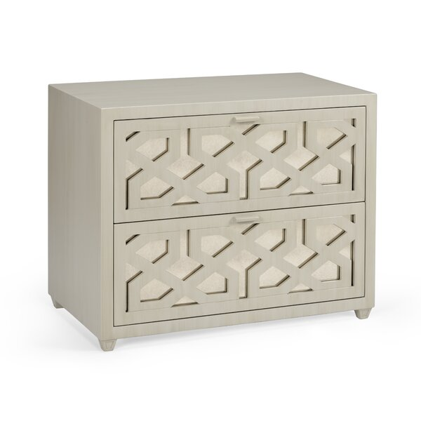 Lattice 2 Drawer Accent Chest by Wildwood