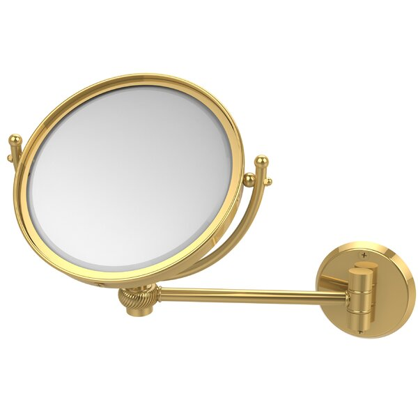 Wall Mounted Make-Up 5X Magnification Mirror with Twist Detail by Allied Brass