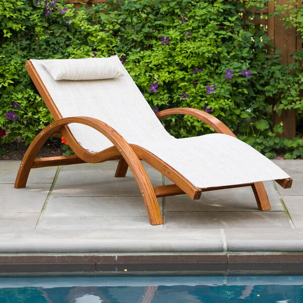 Sling Lounge Chair with Cushion by Leisure Season Leisure Season