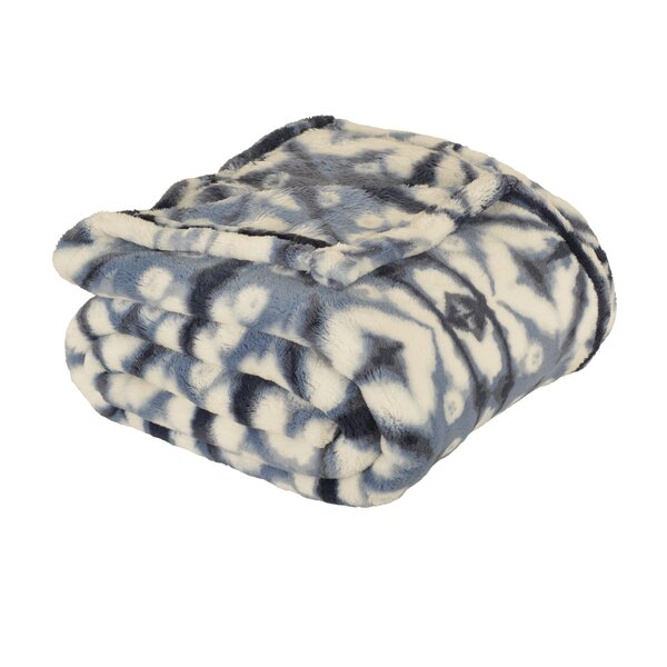 Riggs Shibori Loft Fleece Throw by Union Rustic