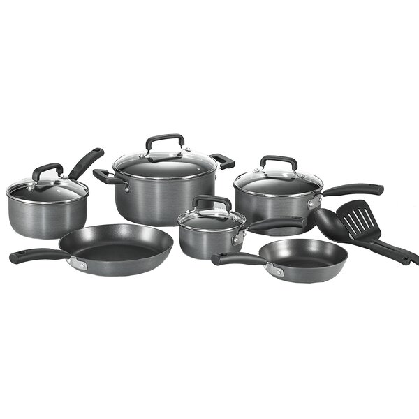 Signature Hard Anodized 12 Piece Non-Stick Cookware Set by T-fal