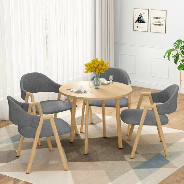 Fedor Upholstered Dining Chair (Set of 4) by George Oliver