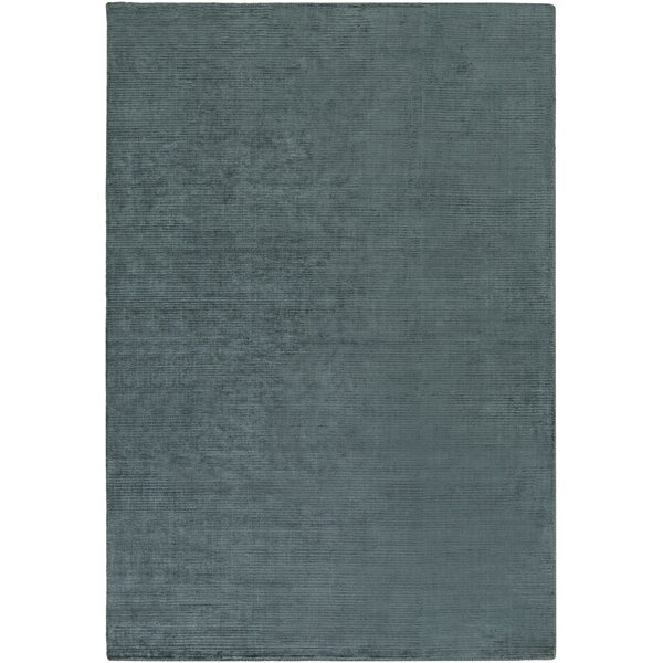 Blosser Hand-Loomed Teal Area Rug by Wrought Studio