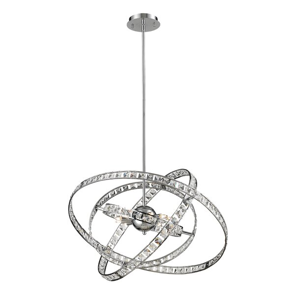 Cervantes 6-Light Candle Style Globe Chandelier by Orren Ellis Orren Ellis