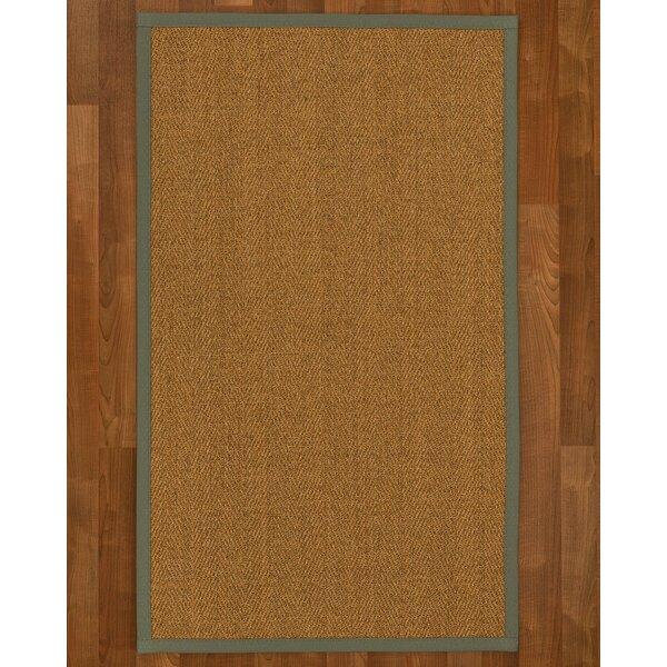 Asmund Border Handmade Flatweave Wool Brown/Olive Area Rug