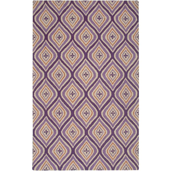 Country Hand-Tufted Wool Plum Area Rug by Rizzy Rugs