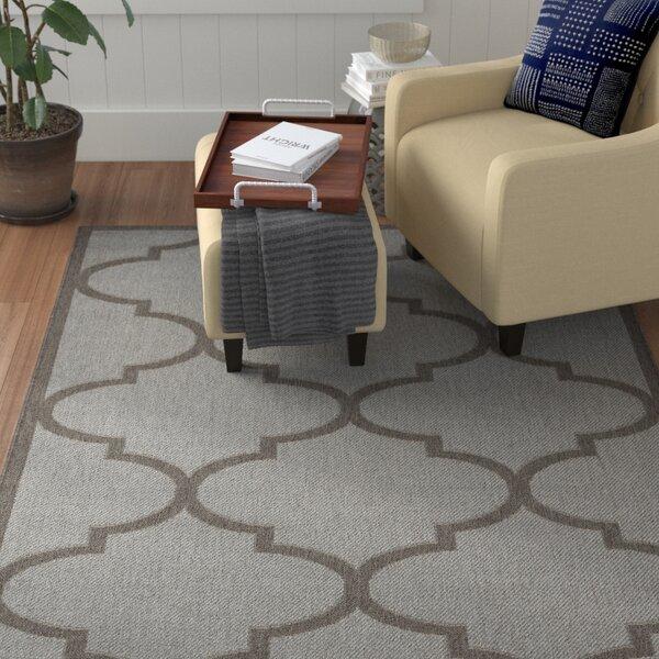 Emma Morroccan Trellis Power Loom Light Gray Indoor/Outdoor Area Rug by Winston Porter