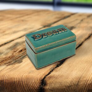 Worn Turquoise Dream Ceramic Accessory Box by August Grove