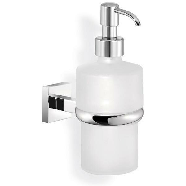Marasco Strong Wall Frosted Glass Soap & Lotion Dispenser by Latitude Run