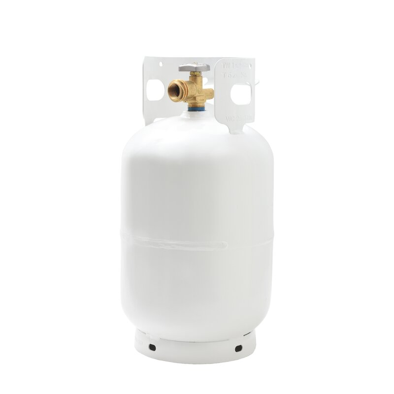 Empty Propane Cylinder with Overfill Protection Device Valve Flame King 30 lbs