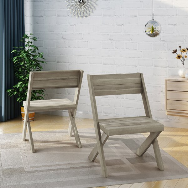 Solid Wood Side Chair (Set Of 2) By Bay Isle Home