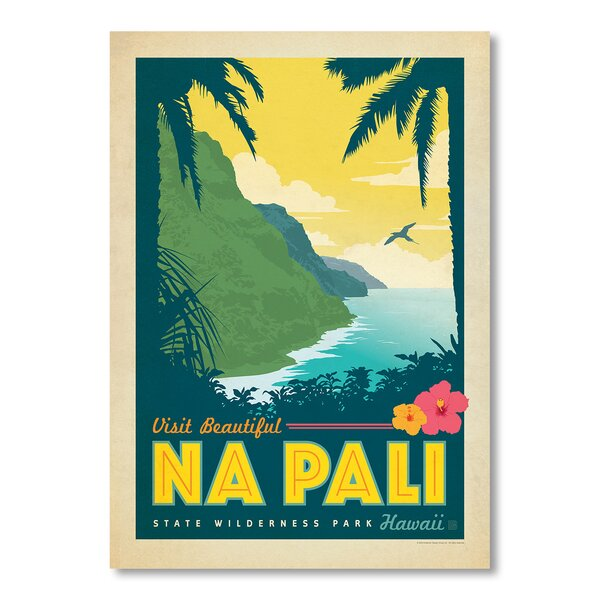 Hawaii Na Pali Vintage Advertisement by East Urban Home