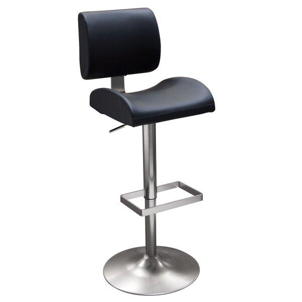 Contour Adjustable Height Swivel Bar Stool by Diamond Sofa