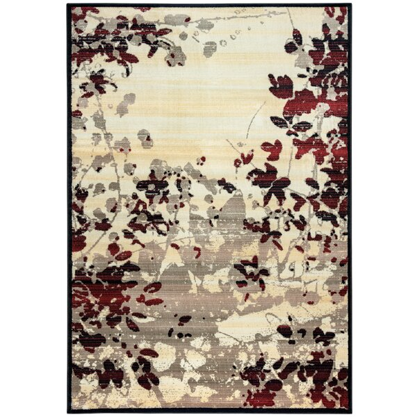 Culver Beige Floral Area Rug by Threadbind
