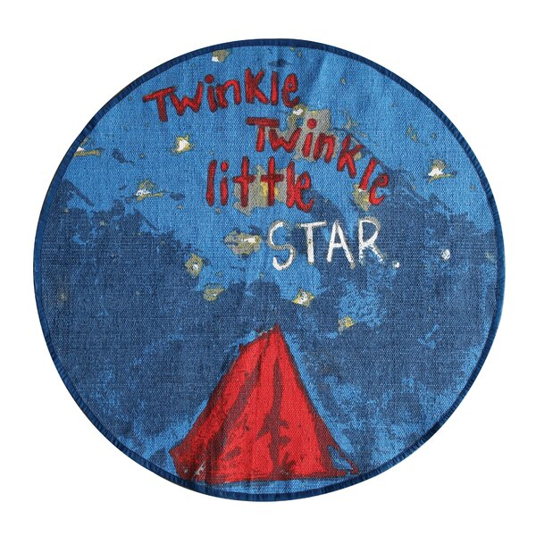 Enoch Twinkle, Twinkle Little Star Blue Area Rug by Harriet Bee