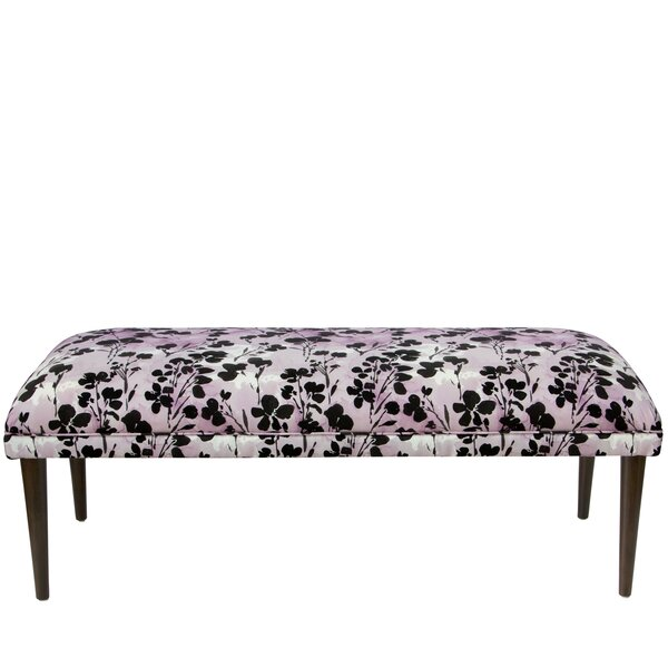 Mireille Floral Upholstered Bench by Latitude Run