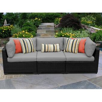 Birch Lane™ Heritage Lawson Patio Sofa with Cushions ...