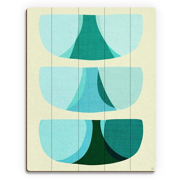 Retro Shape Art Graphic Art on Plaque by Click Wall Art