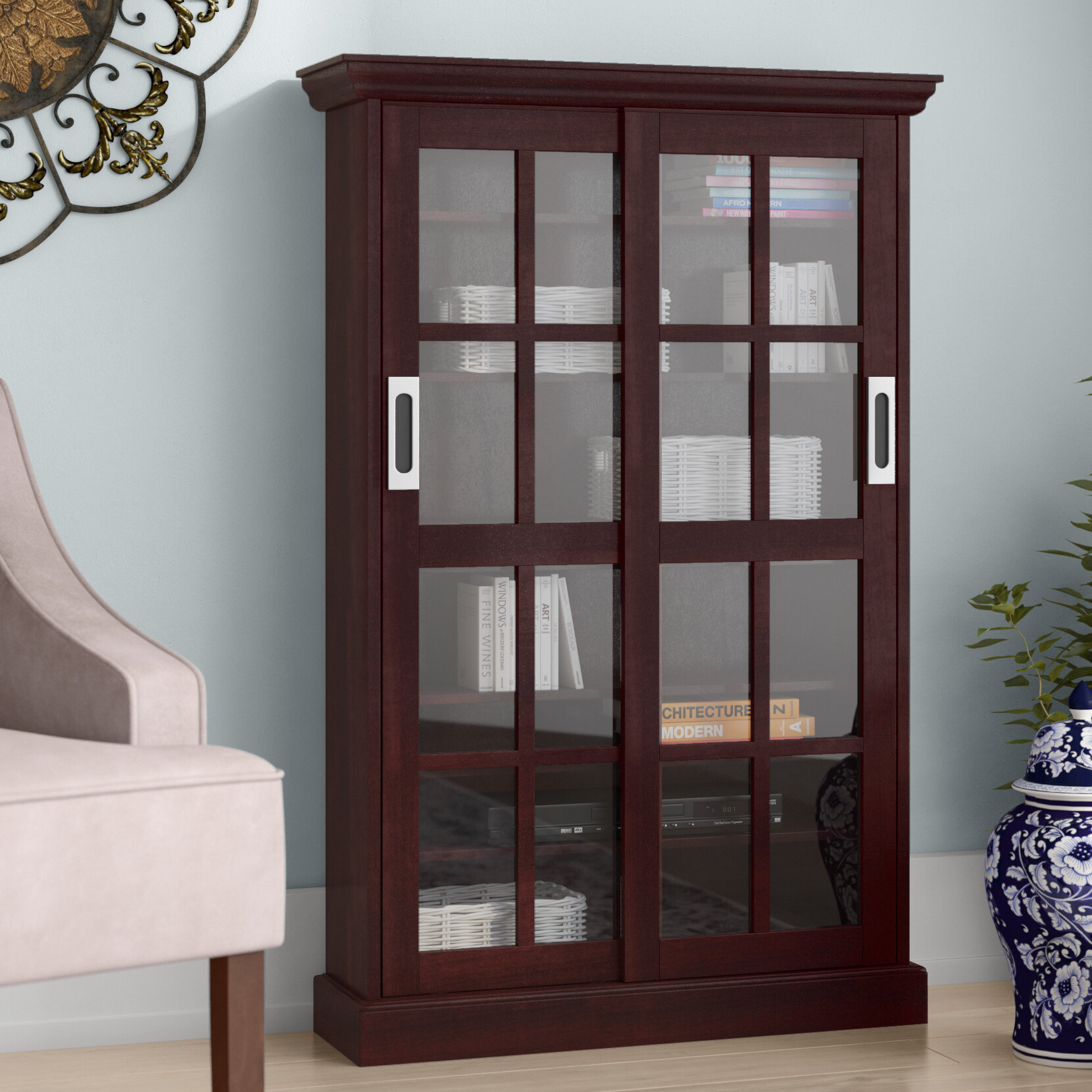 Darby Home Co Sliding Door Media Cabinet U0026 Reviews | Wayfair
