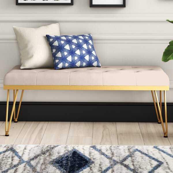 Varner Upholstered Bench by Mercury Row